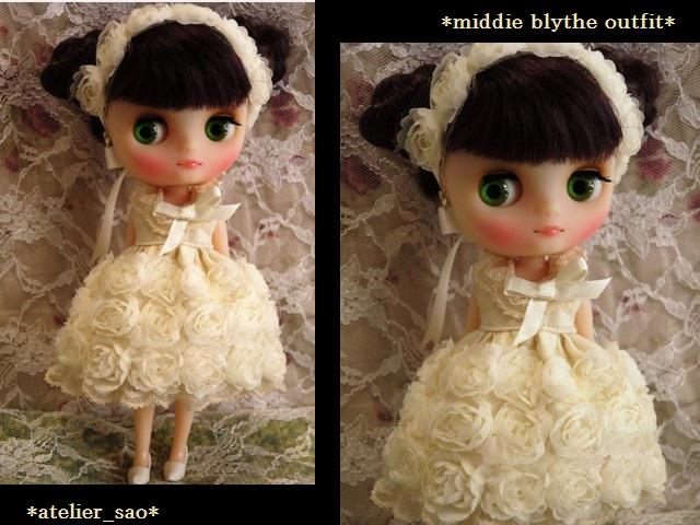 ◆ミディブライス◆薔薇ドレス☆アイボリー1