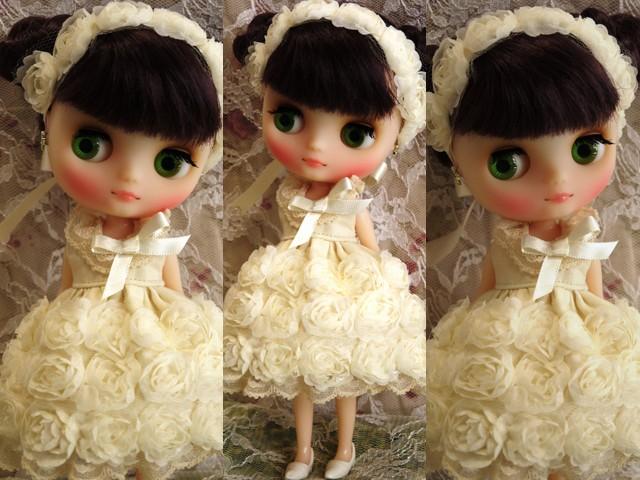 ◆ミディブライス◆薔薇ドレス☆アイボリー2
