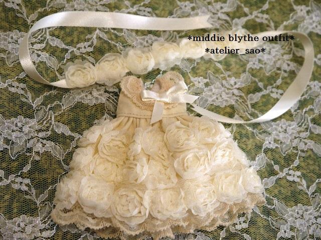 ◆ミディブライス◆薔薇ドレス☆アイボリー3