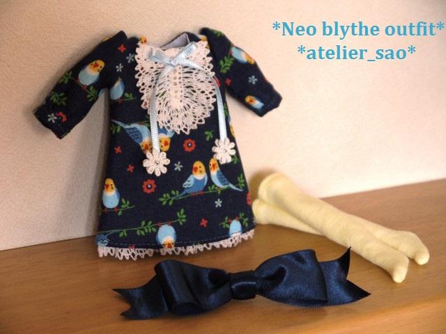 ◆ネオブライス服◆インコと青のワンピース 3