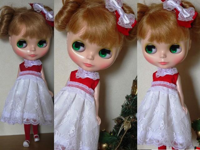 ◆ネオブライス服◆赤と白のドレス★クリスマス★2