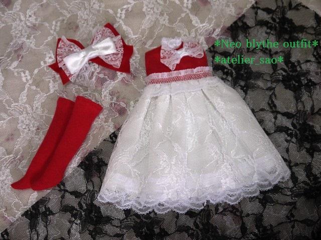 ◆ネオブライス服◆赤と白のドレス★クリスマス★3