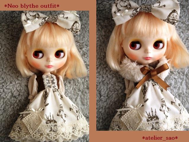 ◆ネオブライス服◆アリス柄アイボリー◇1