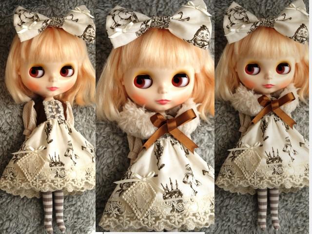◆ネオブライス服◆アリス柄アイボリー◇2
