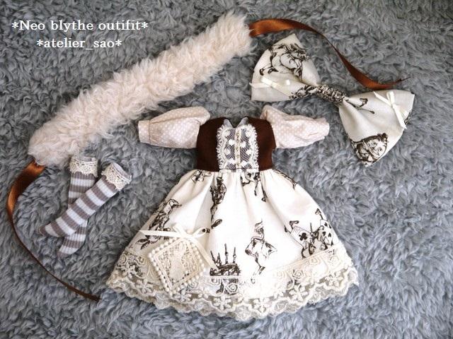 ◆ネオブライス服◆アリス柄アイボリー◇3