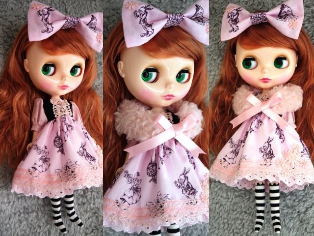 ◆ネオブライス服◆アリス柄ピンク◇ 2