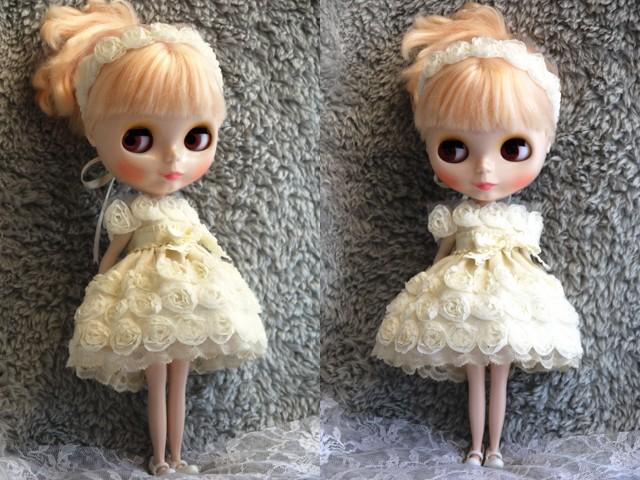 ◆ネオブライス◆薔薇のドレス◇アイボリー◇2