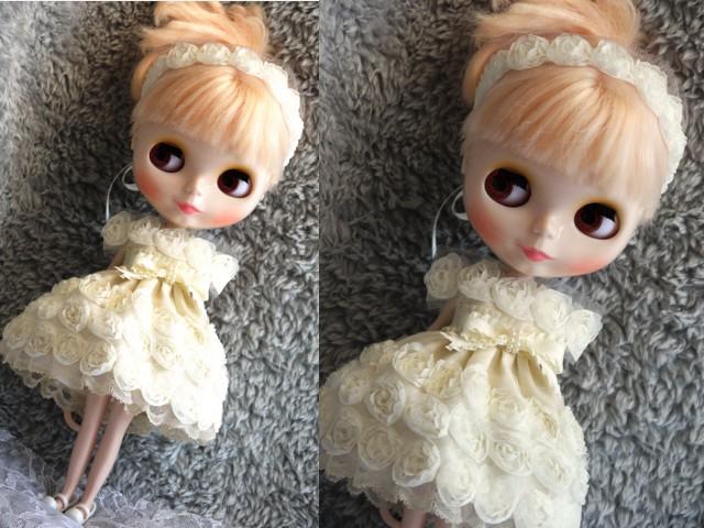 ◆ネオブライス◆薔薇のドレス◇アイボリー◇ 3