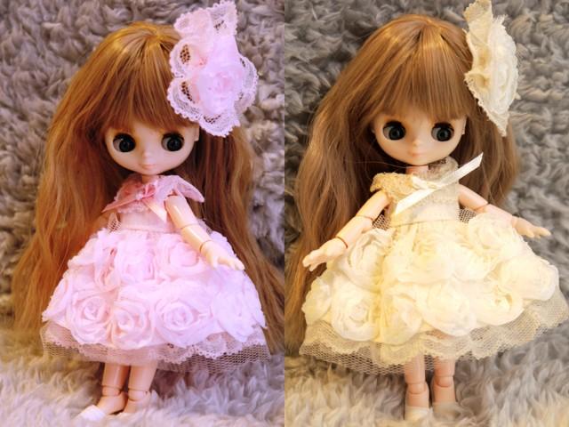 オビツ11薔薇のドレス4