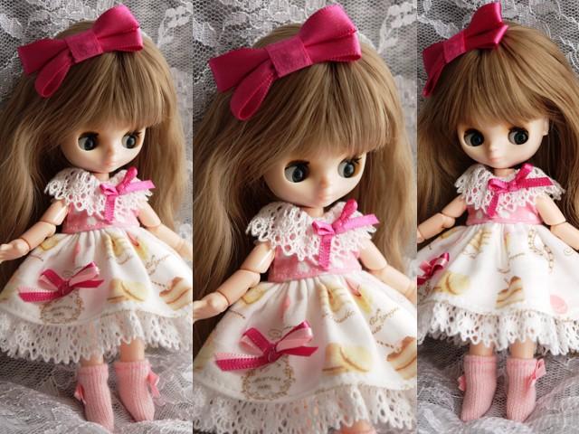 ◆オビツ11服◆スウィーツ柄☆ピンク2