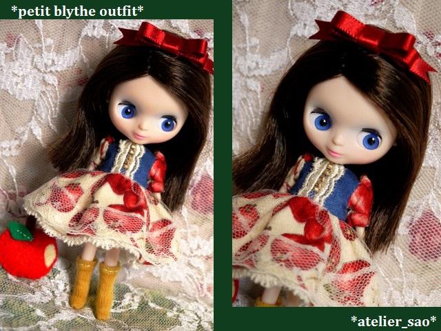 ◆プチブライス服◆白雪姫のりんごドレス◇1