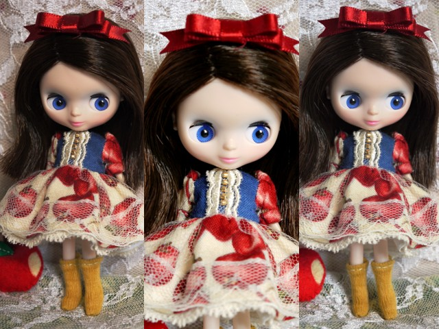 ◆プチブライス服◆白雪姫のりんごドレス◇2