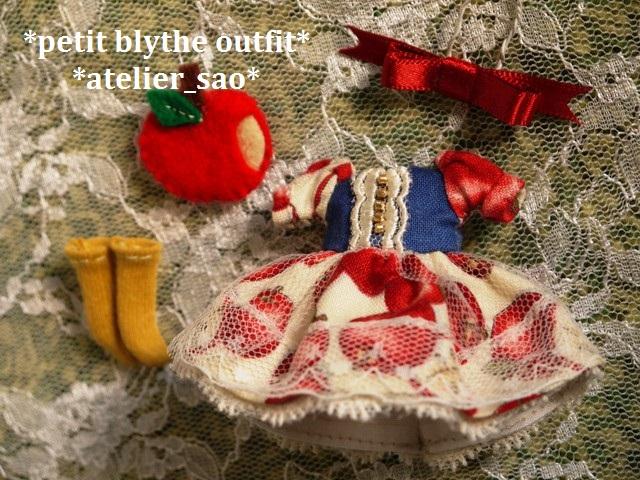 ◆プチブライス服◆白雪姫のりんごドレス◇3