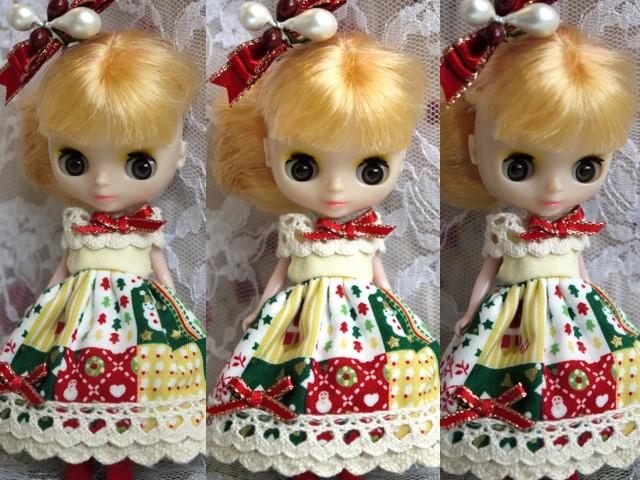◆プチブライス服◆カントリークリスマス☆2