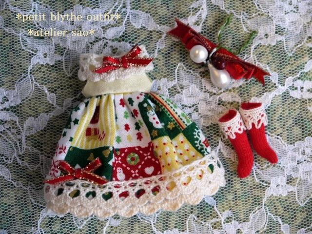 ◆プチブライス服◆カントリークリスマス☆3