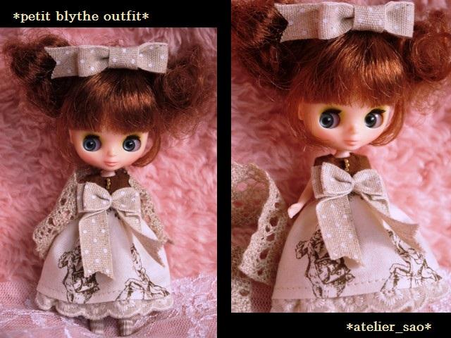 ◆プチブライス◆アリス柄ドレスw1