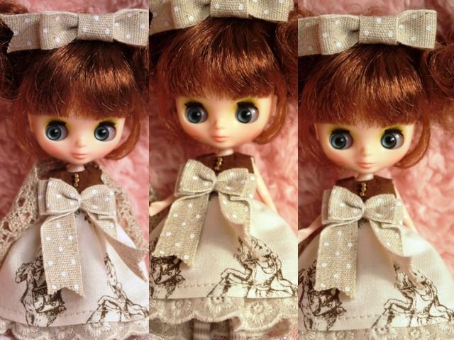 ◆プチブライス◆アリス柄ドレスw2