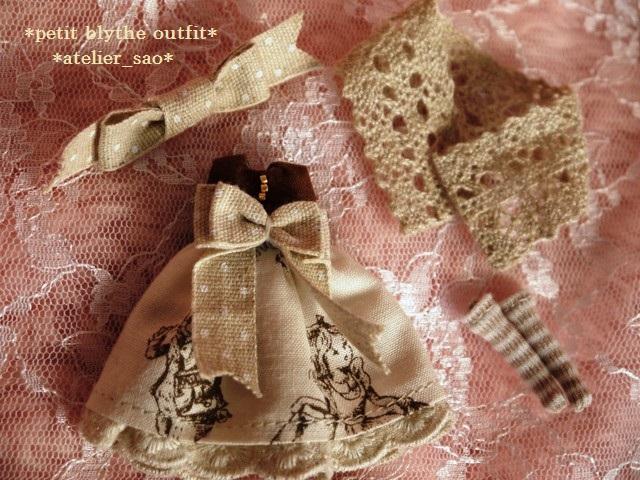 ◆プチブライス◆アリス柄ドレスw3
