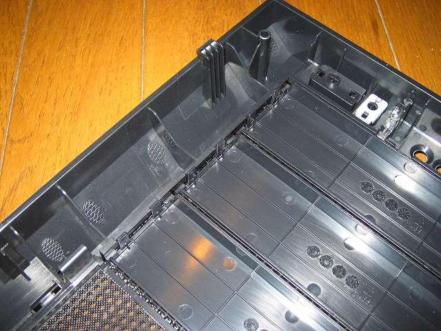 PC ケース Antec Three Hundred Two AB フロントパネル 内側 5.25インチドライブベイカバーと固定ツメ