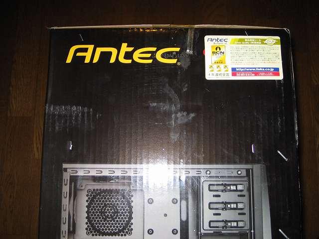 PC ケース Antec Three Hundred Two AB 梱包箱 側面 製品保証シール