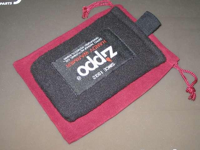 ハンディウォーマー専用フリース袋と巾着袋の大きさ比較