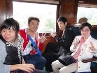 大井川車内
