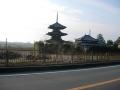 160103法起寺、国宝の三重塔