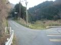 160206長滝口分岐を左へ上り国道25号を離脱