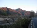 160211鹿背山方面から朝日の当たる対岸を望む