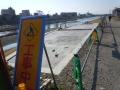 151231勧進橋の新しいスロープは工事中