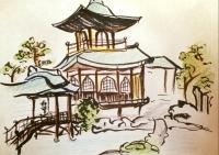 3大徳寺芳春院の絵呑湖閣