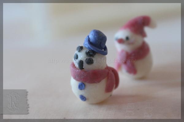 手作り石鹸 雪だるま 雪 スノー 冬 20151201