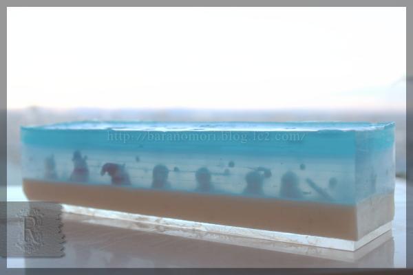 消しゴムハンコ 手作り石鹸 雪の結晶 スノー MPソープ 20151203