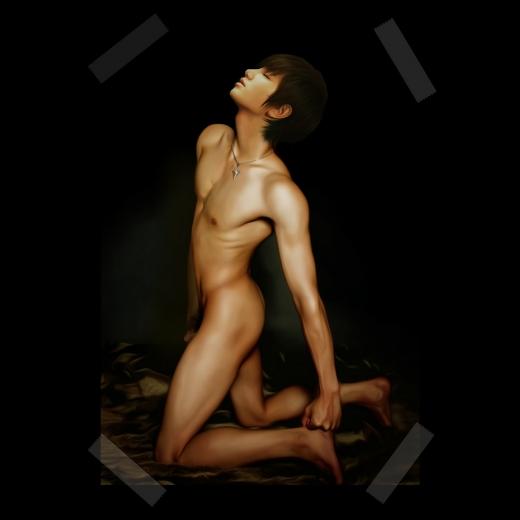 奇麗な男の子の裸