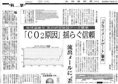 2009.12.15北海道新聞(夕刊)