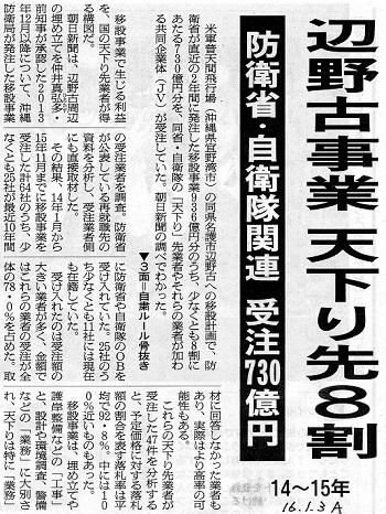 16.1.3朝日・辺野古事業天下り