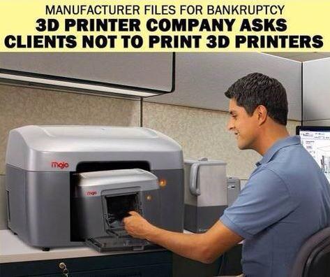 3Dプリンタで3Dプリンタを出すことはできない