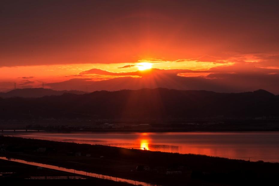 2015.12.14河北潟からの朝焼け6.0710