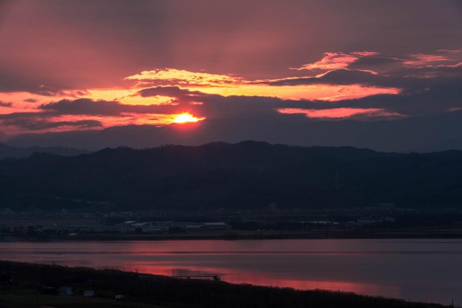 2015.12.14河北潟からの朝焼け5.0706