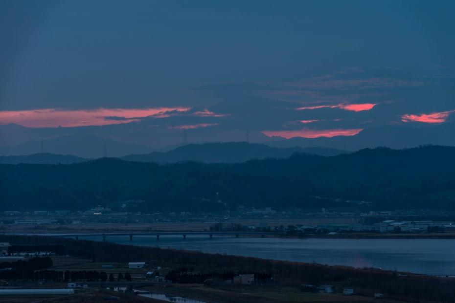 2015.12.14河北潟からの朝焼け4.0657