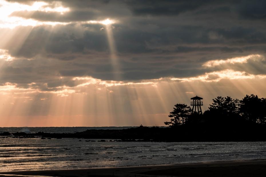 2015.12.19安部屋海岸の夕景6