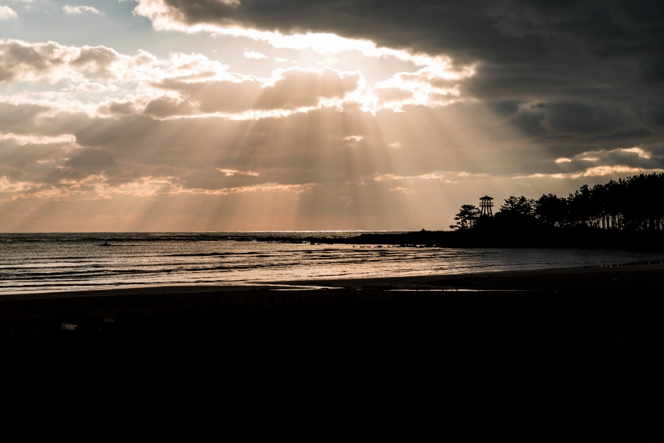 2015.12.19安部屋海岸の夕景5