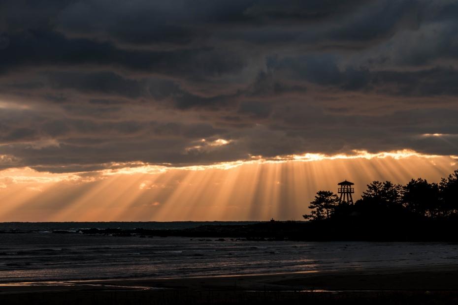2015.12.19安部屋海岸の夕景1