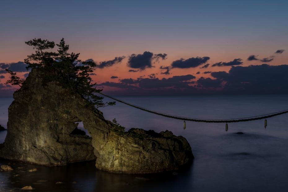 2015.12.22機具岩の夕焼け12