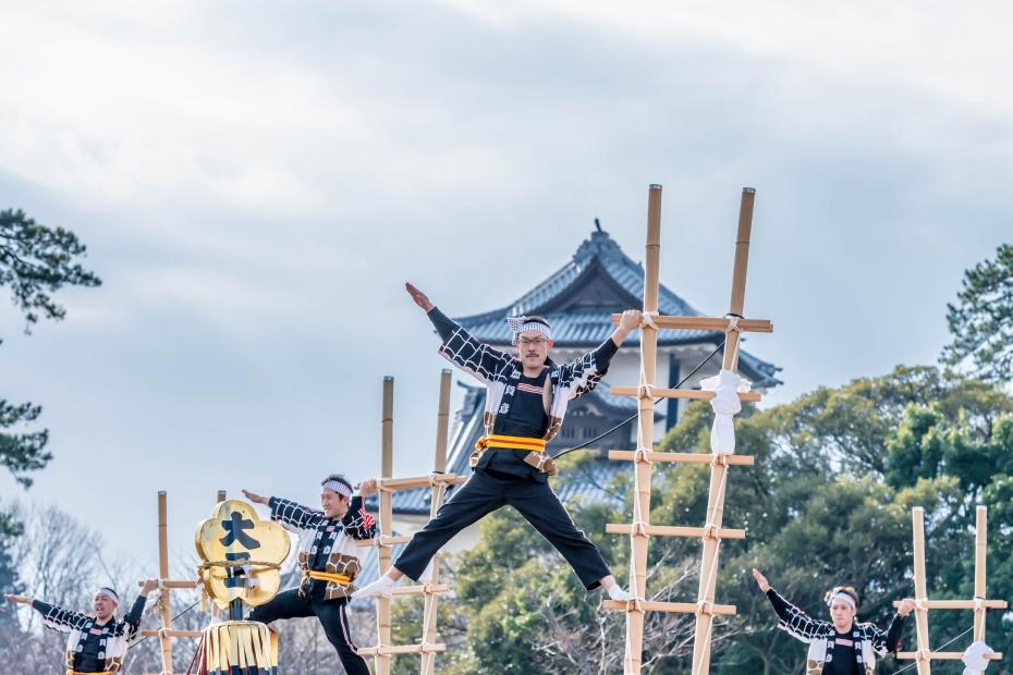 2016.01.10金沢市の消防出初式_加賀鳶梯子登り11