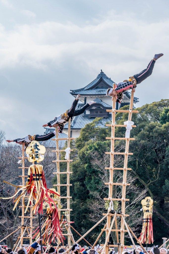 2016.01.10金沢市の消防出初式_加賀鳶梯子登り2