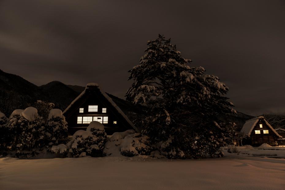 2016.01.21白川郷の夜景4