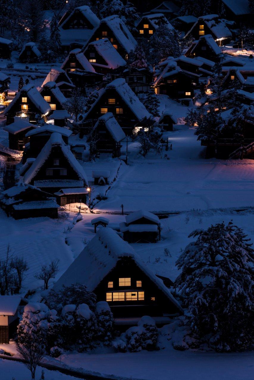2016.01.21白川郷の夜景2