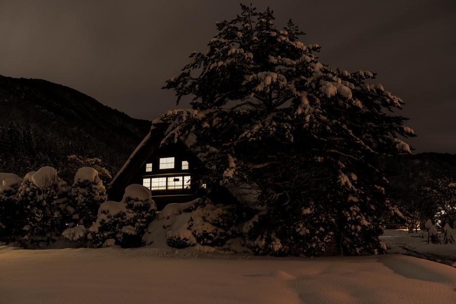 2016.01.21白川郷の夜景3