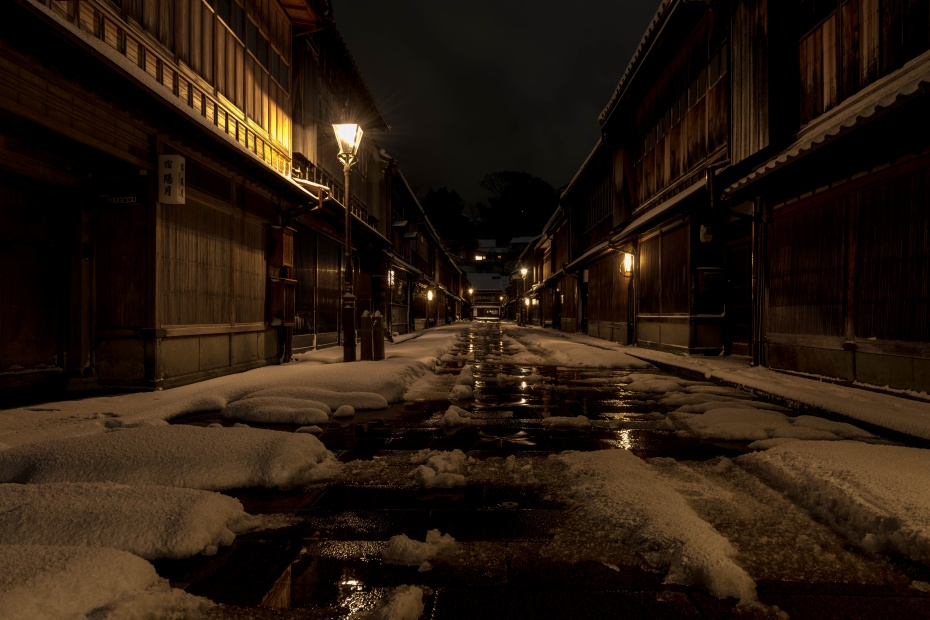 2016.01.25ひがし茶屋街の雪景色1